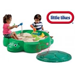 Little Tikes Piaskownica zamykana żółw ciemna zieleń Little tikes