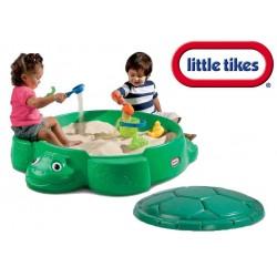 ***Little Tikes Piaskownica zamykana żółw ciemna zieleń Little tikes