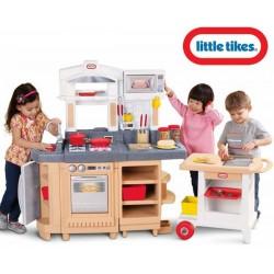 LITTLE TIKES Duża Elektroniczna Kuchnia Obracana z wózkiem grillem 30 akc.