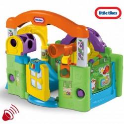 Little Tikes Edukacyjne Centrum Zabaw Kojec dźwięk zjeżdżalnia