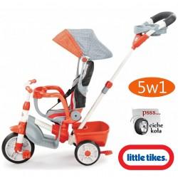 ***LITTLE TIKES Rowerek TRÓJKOŁOWY 5w1 pomarańczowy + szary CICHE KOŁA