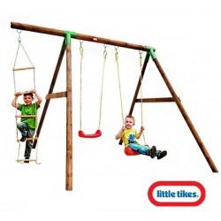 Little Tikes Drewniany zestaw huśtawka Riga na plac zabaw