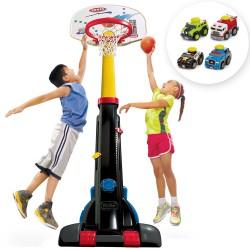 Little Tikes Regulowana koszykówka z piłką + samochodzik