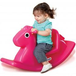 Koń Konik na biegunach bujak różowy Little tikes