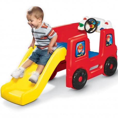 Little Tikes Edukacyjny Mini Plac zabaw ze zjeżdżalnią Wóz Strażacki