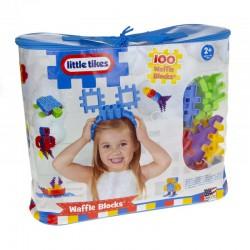 Klocki wafle 100 elementów w torbie Little Tikes